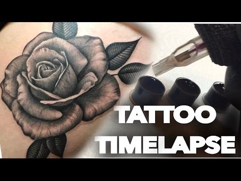 109932886 TATTOO TIME LAPSE / REAL TIME /FLOWERS ON THIGH ROSES AND SUNFLOWERS  /CHRISSY LEE TV - YouTube