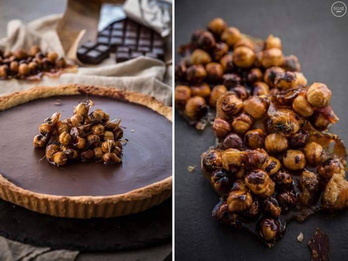Νηστίσιμη τάρτα σοκολάτας με ταχίνι  #Γλυκά #Νηστίσιμεςσυνταγές