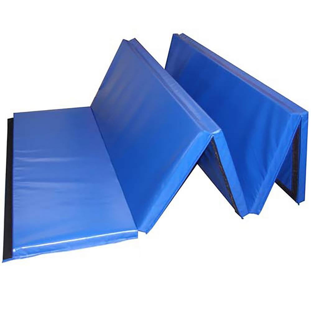 Greatmats Folding 5 Ft X 10 Ft X 2 In Blue 18 Oz Vinyl And Foam Gymnastics Mat In 2020 Gym Mats Folding Gym Mat Cheer Mats