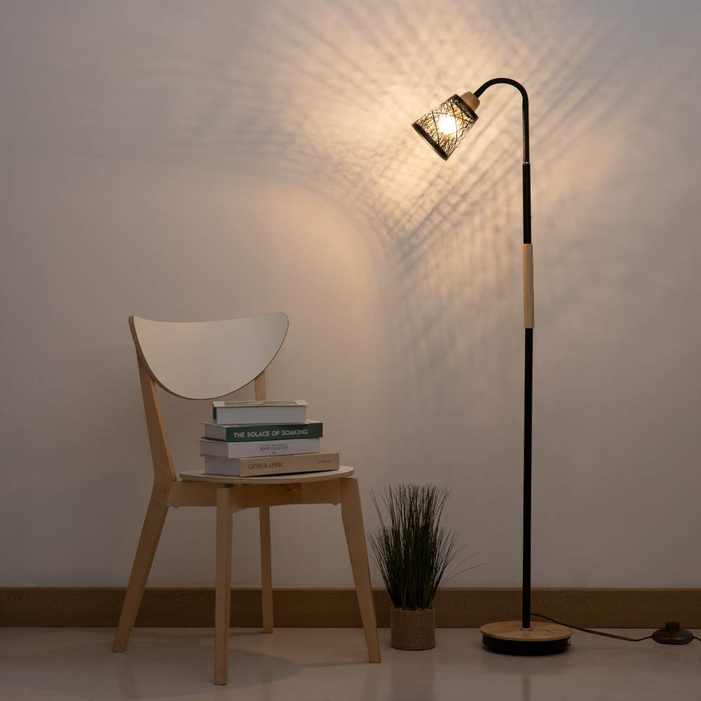 Haitral Modern Floor Lamp Tall Standing Lamp With 360 Adjustable Swing Arm Industrial Reading Lamps For Modern Floor Lamps Lamps Living Room Standing Lamp #reading #lamps #living #room