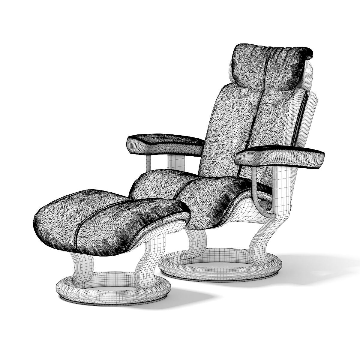 Black Leather Chair With Footrest Black Leather Chair Leather Chair Black Leather