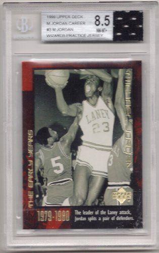 timeless design 6e136 30df6 1999 Upper Deck Michael Jordan Career #3 w/ Wizards Practice ...