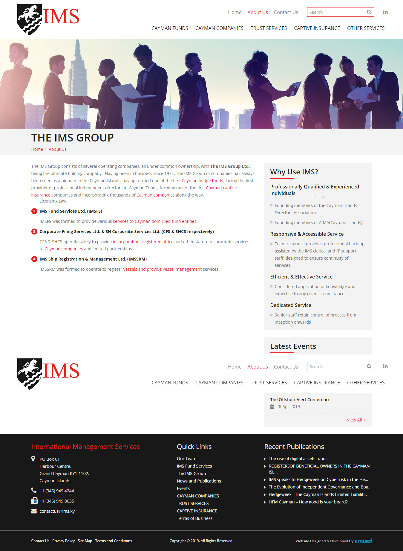 Since 1974 Ims And Its Subsidiary Companies Are Run By