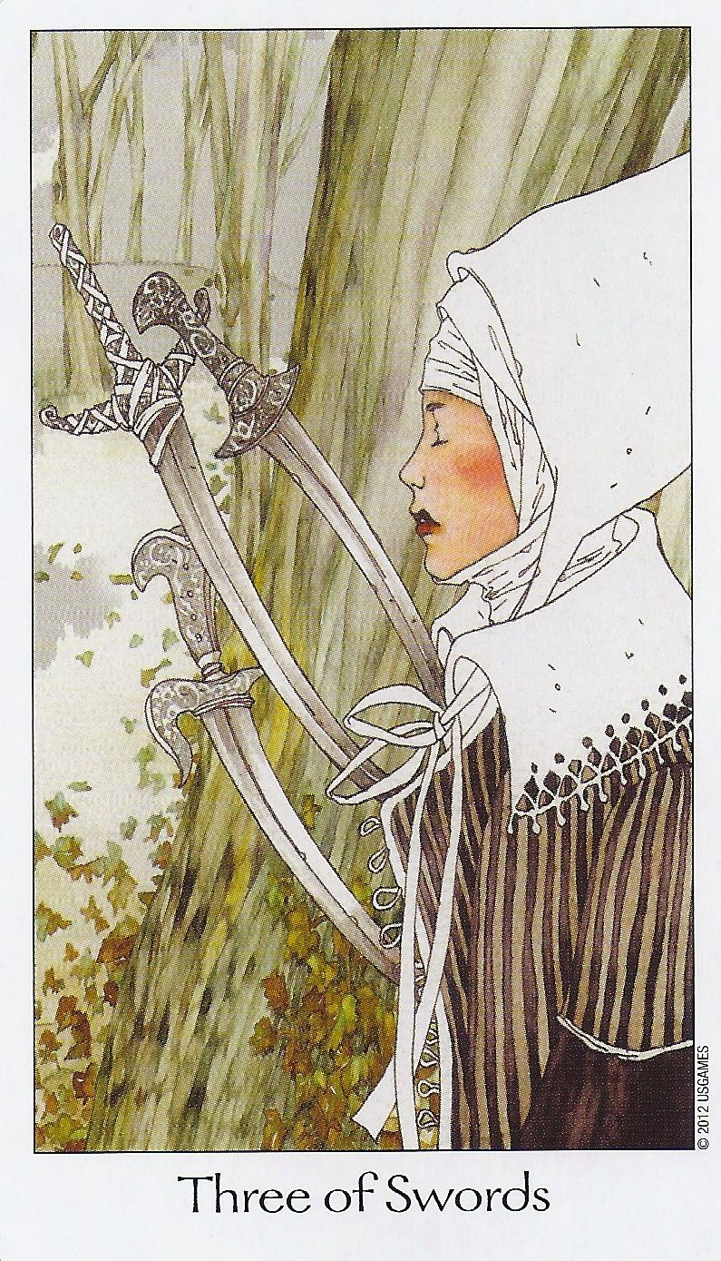 Three of Swords - Dreaming Way Tarot
