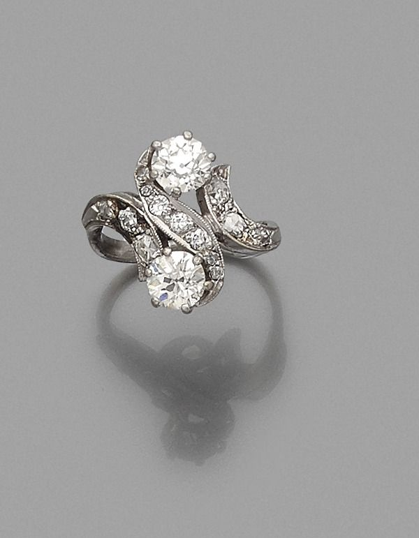 bague or blanc et diamant estimation