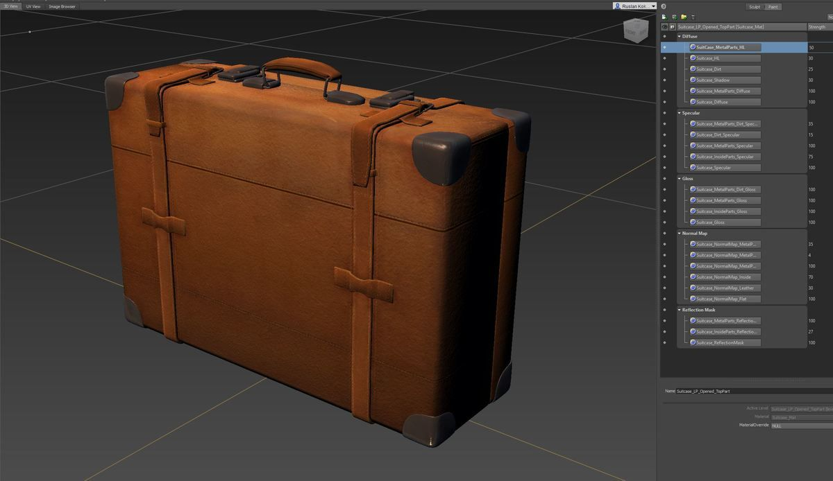 Leather Suitcase This Royalty Free 3d Model Or Texture Is