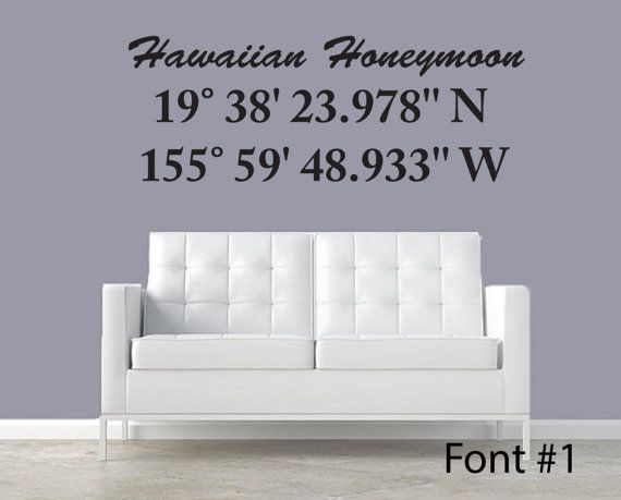 Latitude longitude coordinate wall decal personalized by jobstco