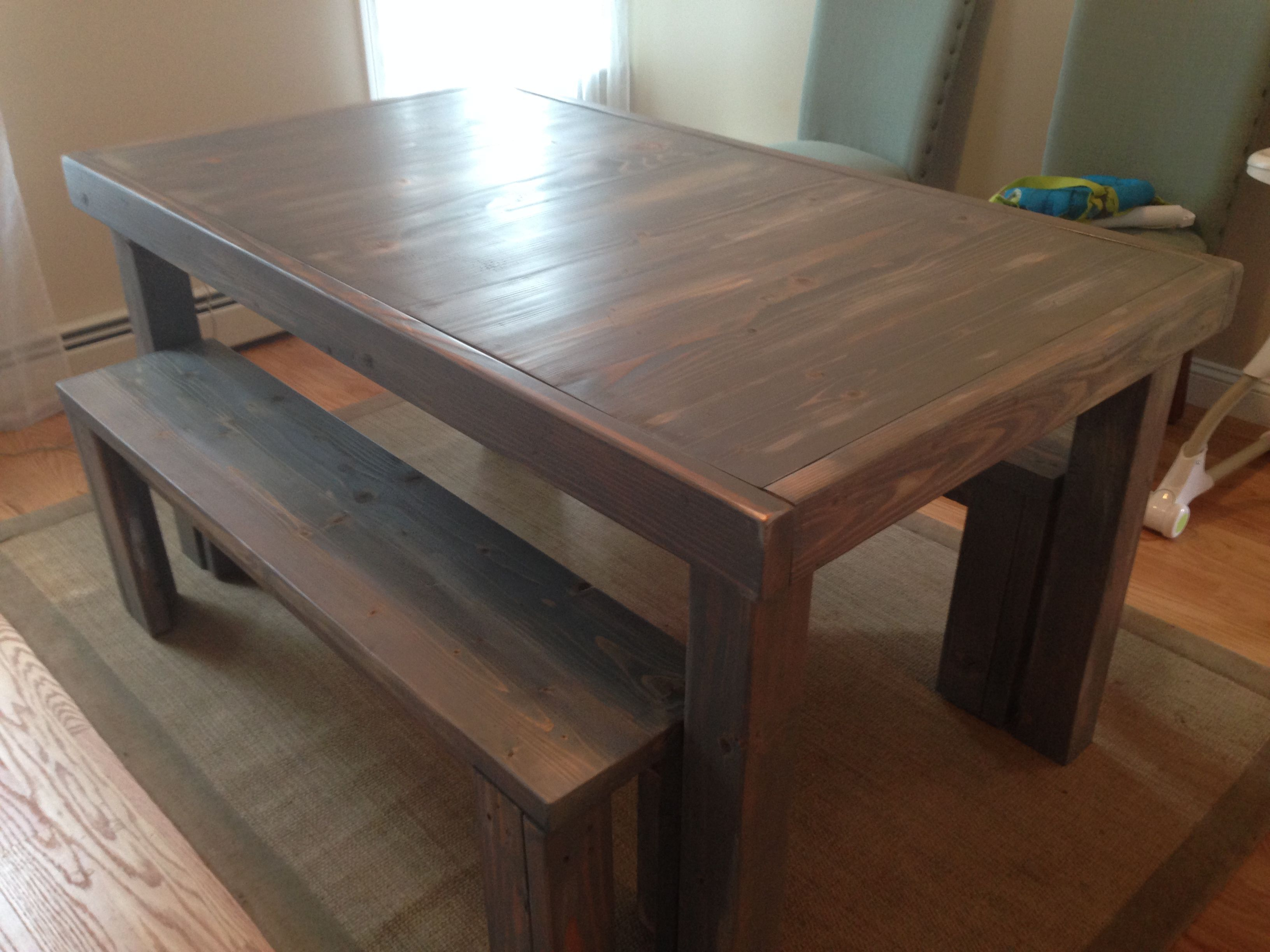 Distressed Parsons Table in weathered grey. Barleycorn Woodworks ... | parsons furniture nh
