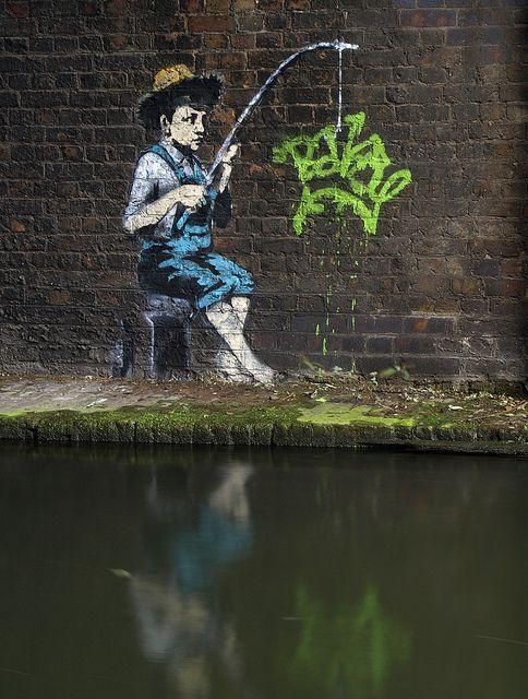 Banksy Street Artist Composition Pink Frame Print A4 A3 A2 A1