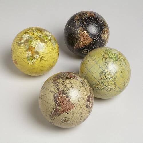 Decorative Glass Balls For Bowls Sphere Globes Set Of 4  Globe
