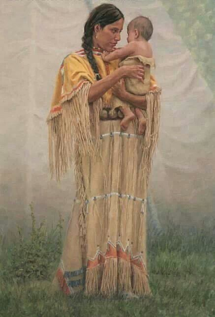 Native American Mother And Child Art Mother and Child | *Na...