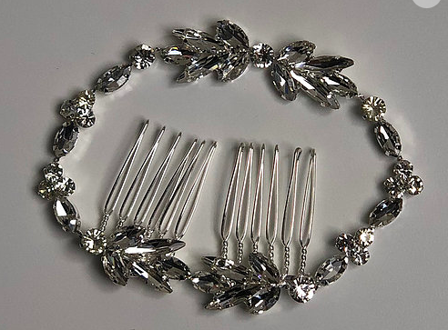 Silver Rhinestone Chain Headband | Silver & Rhinestone Hair Chain Jewelry #hairchains