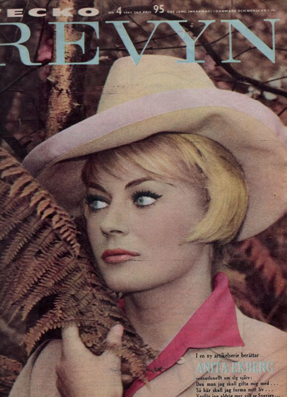 Swedish 1960s Vintage Womens Magazine Cover Revyn
