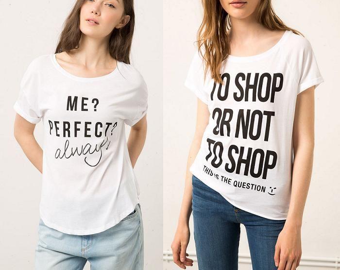 bershka camisetas con mensaje de texto