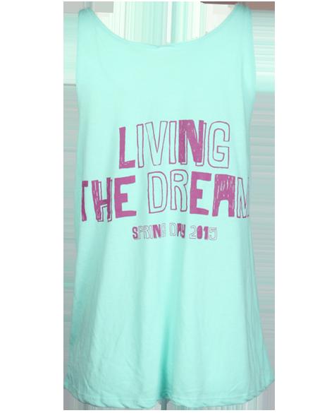 Phi Sigma Sigma Living The Dream Tank by Adam Block Design | Custom Greek Apparel & Sorority Clothes | www.adamblockdesign.com