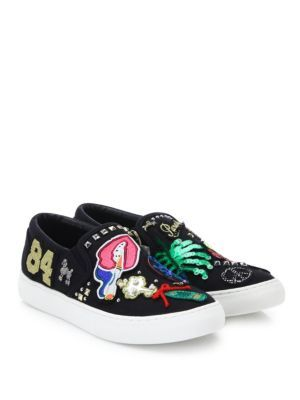 4d6fe3f5998a MARC JACOBS Mercer Embroidered Slip-On Sneakers.  marcjacobs  shoes   sneakers
