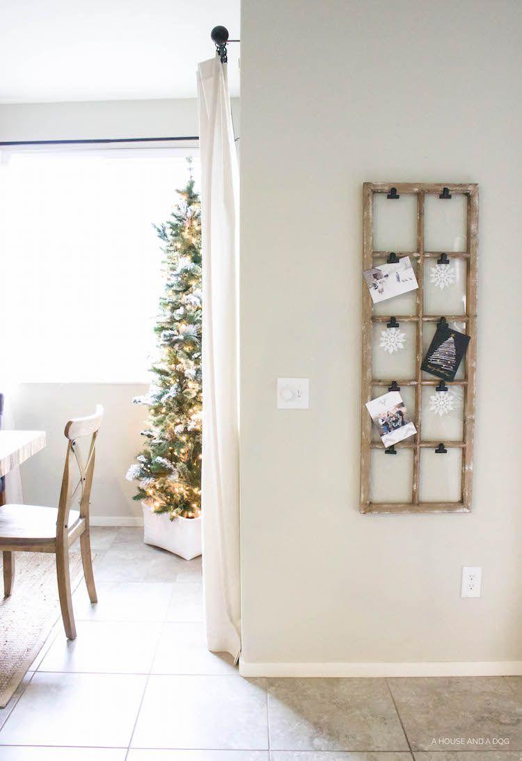 reclaimed vintage window christmas card displaycountryliving