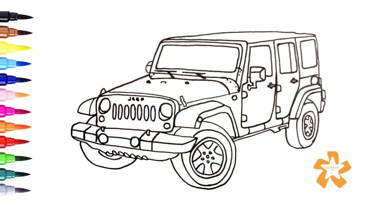 Jeep Wrangler Coloring Pages Printable | Gambar