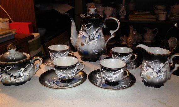 Beautiful Oriential Porceline Tea Set