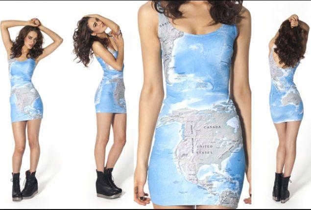 World map dress usa fashions pinterest black milk world map dress gumiabroncs Choice Image