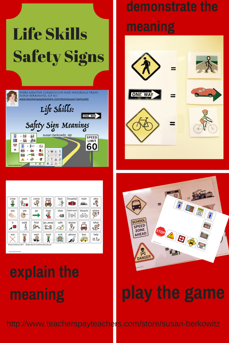 Language of life skills safety signs meanings activity high try this helpful resource for students to learn the meanings of signs they see in the community and on the street there are 21 safetytrafficcommunity biocorpaavc Choice Image