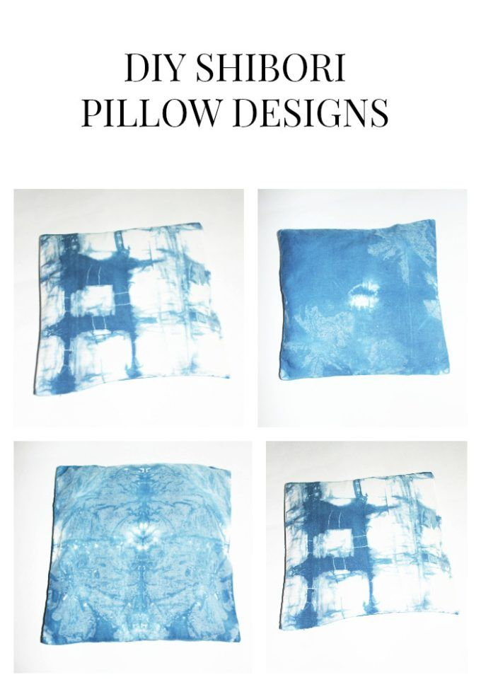 By now most of you know how much I love-making pillows. I thought it be fun and different to tie dye pillow case and create a Shibori de