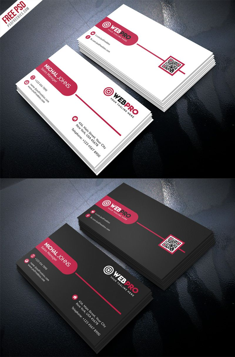 Corporate Modern Business Card Psd Template Set Psdfreebies Com Business Card Psd Modern Business Cards Free Business Card Templates