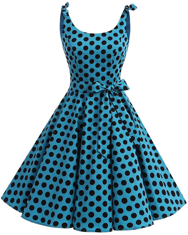 Bbonlinedress 1950\'s Bowknot Vintage Retro Polka Dot Rockabilly ...