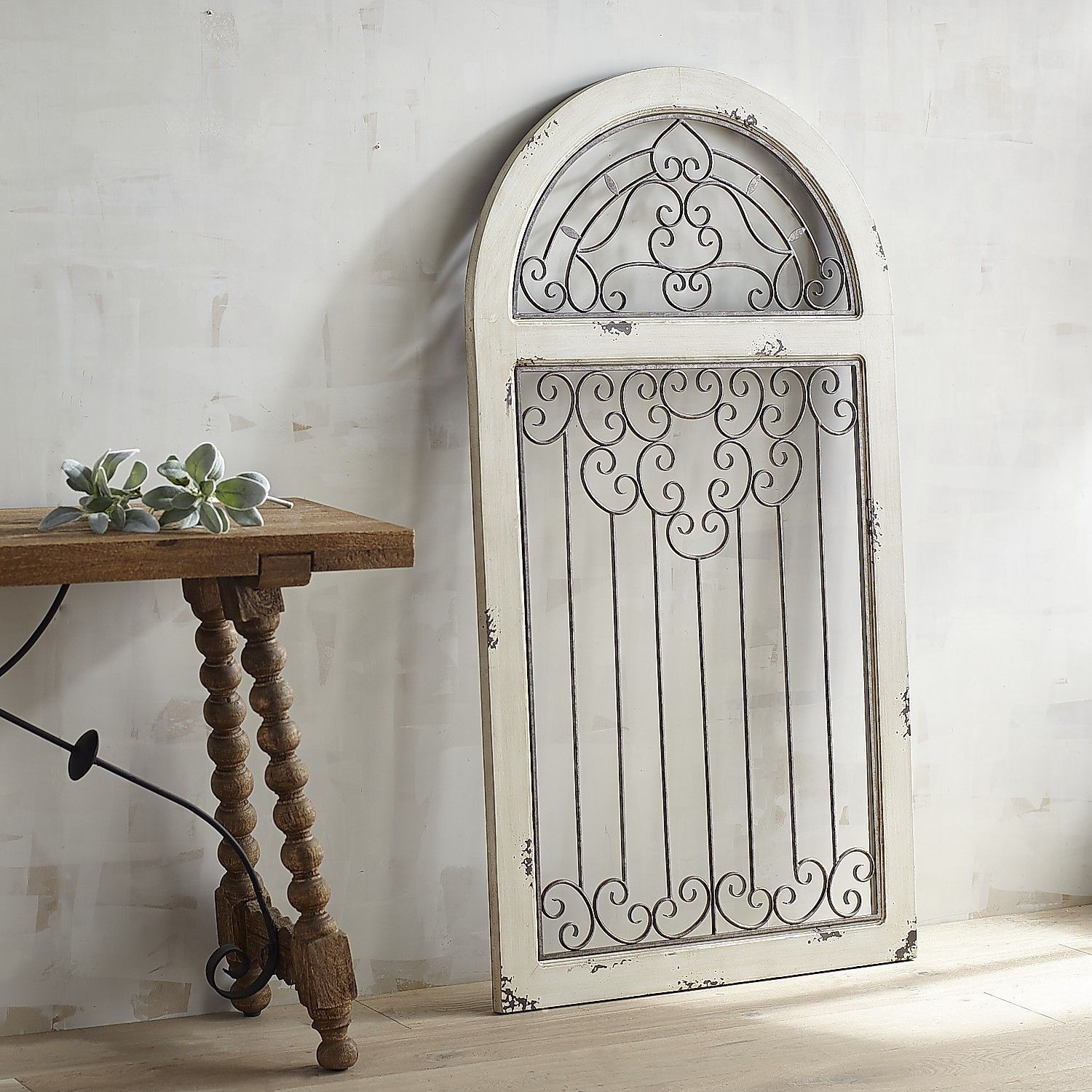 White antiqued arch wall decor wall decor arch and walls white antiqued arch wall decor amipublicfo Image collections