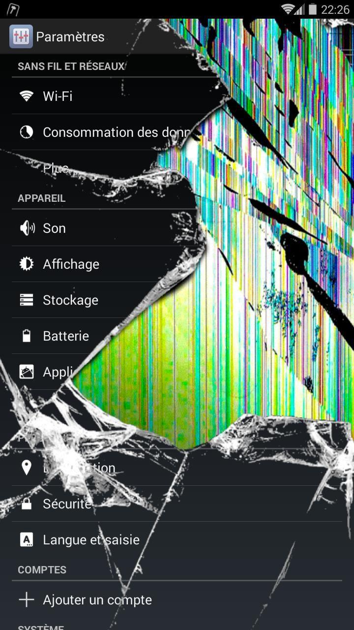 Prank Broken Screen Android Background in 2020 Broken