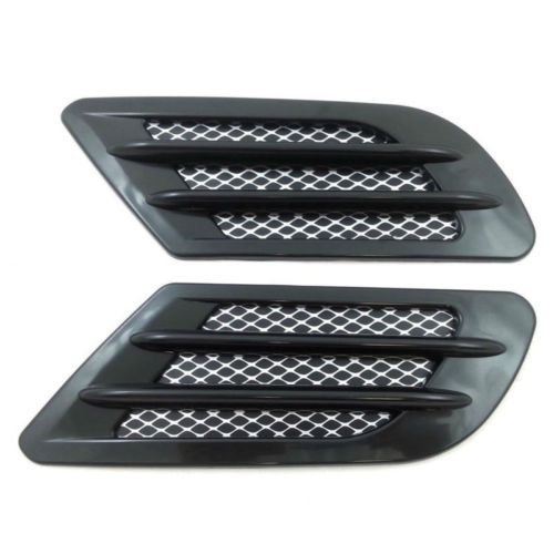 Car Decor Side Air Flow Vent Hood Fender Cover Simulation Intake Grille Sticker
