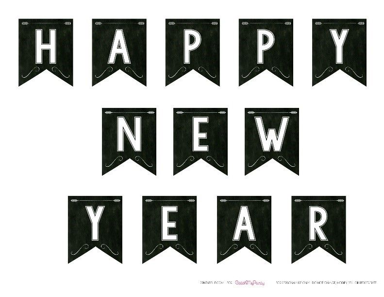 7742296a4c4a4 Happy New Year 2019 Printable Banner | Happy New Year 2019 Banners ...