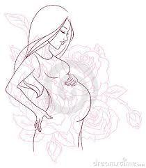 Resultado De Imagen Para Dibujo De Mujer Embarazada De Perfil Drawings Illustration Vector Graphics Design