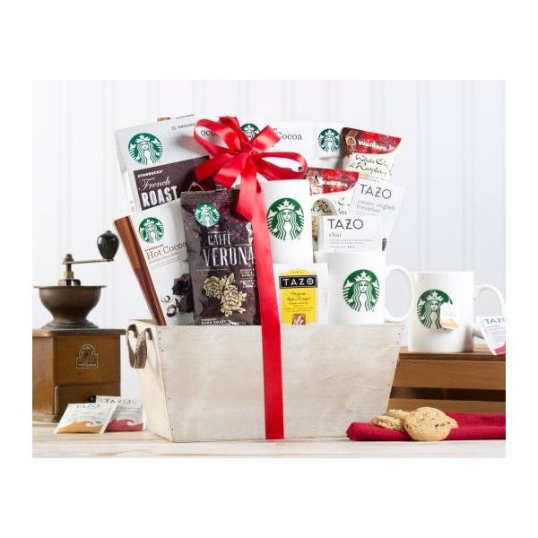 Starbucks Coffee and Tazo Tea Gift Basket - This coffee and tea inspired basket includes French Roast ground coffee, Caffe Verona coffee, English Breakfast ...
