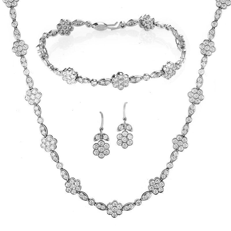 Tiffany & Co. Platinum & Diamond Jewelry Set in Jewelry & Watches, Fine Jewelry, Fine Necklaces & Pendants | eBay