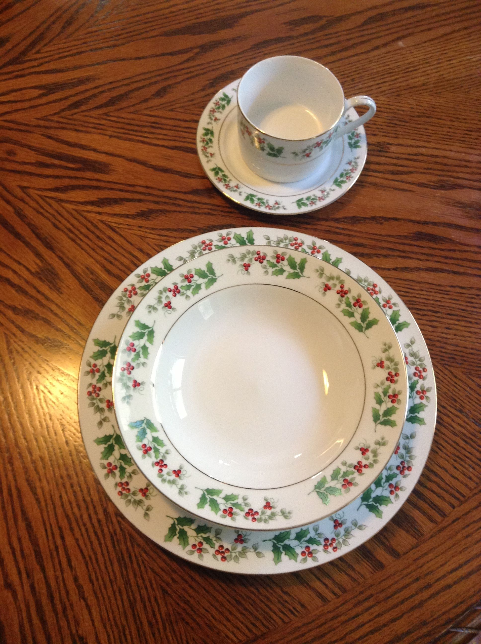 My Christmas China, holly berry design by Gibson | My obsession with ...