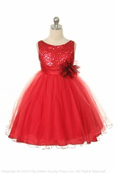 ace3ae741 Red Flower Girl Dress this the one I originally picked for chassity to wear