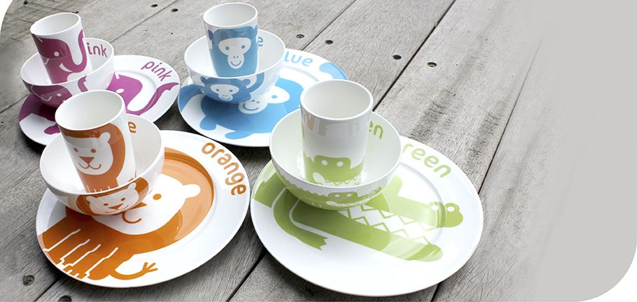adorable (and educational!) children's dishes from Colourful Dove