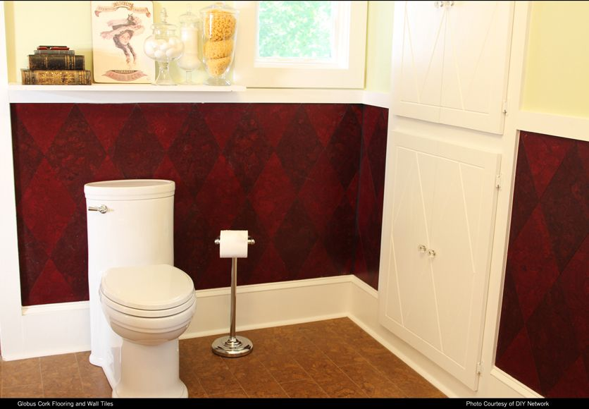 amazing cork bathroom flooring ideas | Globus Cork tiles used for flooring and walls. Made in USA ...