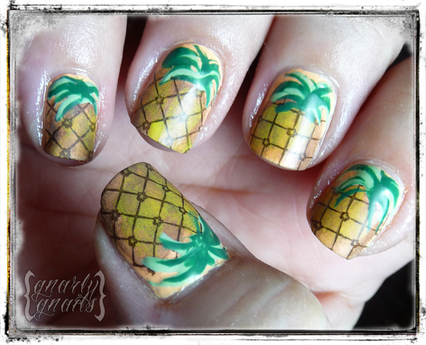 Tutorials ~ Gnarly Gnails | Nails | Pinterest | Pineapple nails and ...