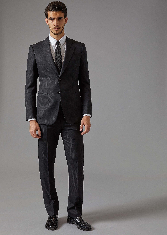33f78809fa0b8 GIORGIO ARMANI Trader Blu suit in in batavia twill Suit U f
