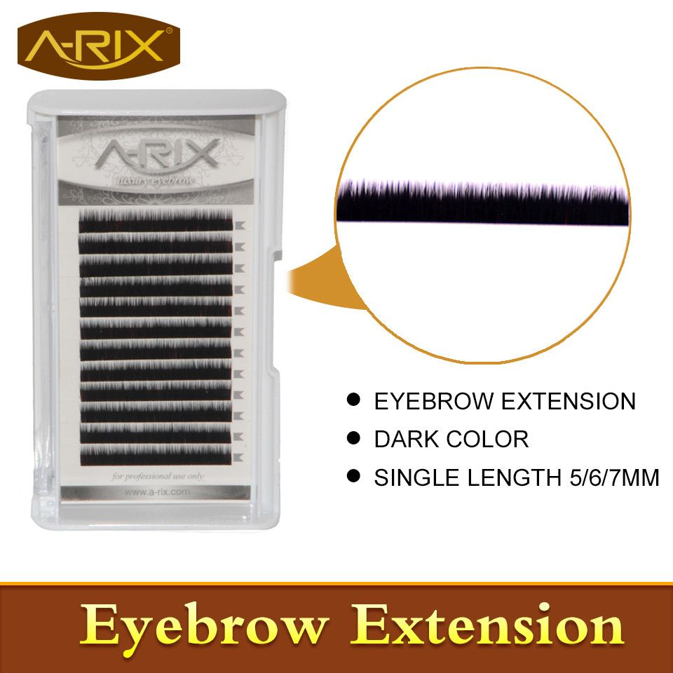 New Arrival 2016 Fashion 1pack Dark Color Eyebrow Extension