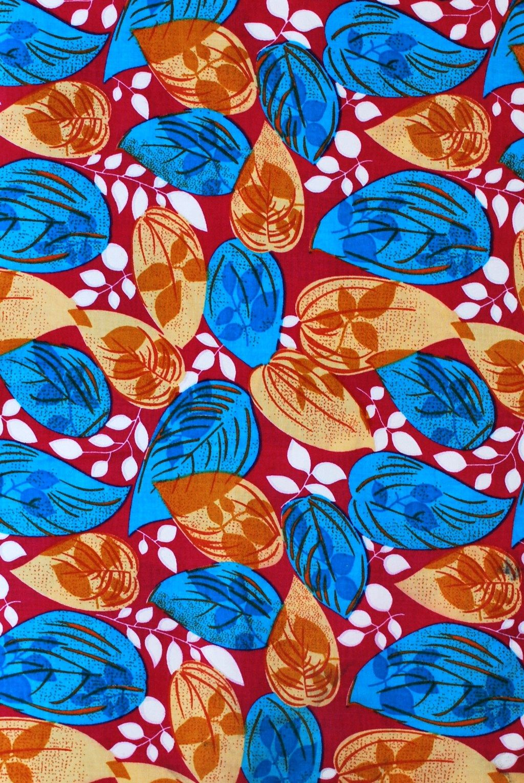 Leaves Leaves Leaves Blue | African Fabric House