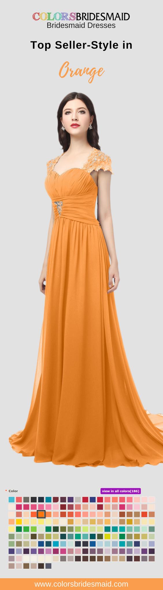 Colsbm iris orange bridesmaid dresses pinterest chiffon
