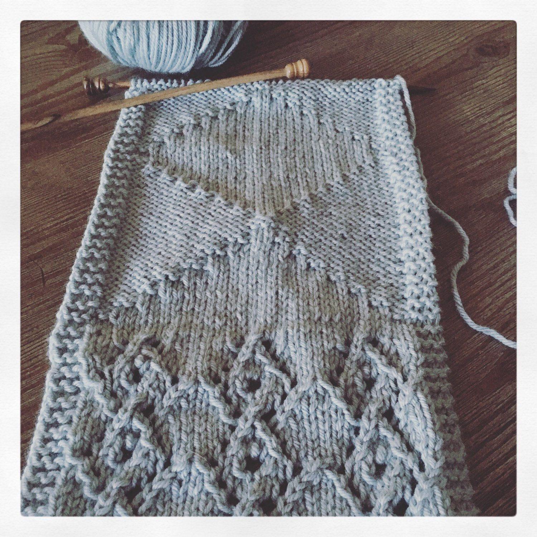 PATTERN Graffiti Shawl Knitting Pattern Knit Triangle Scarf Shawl ...