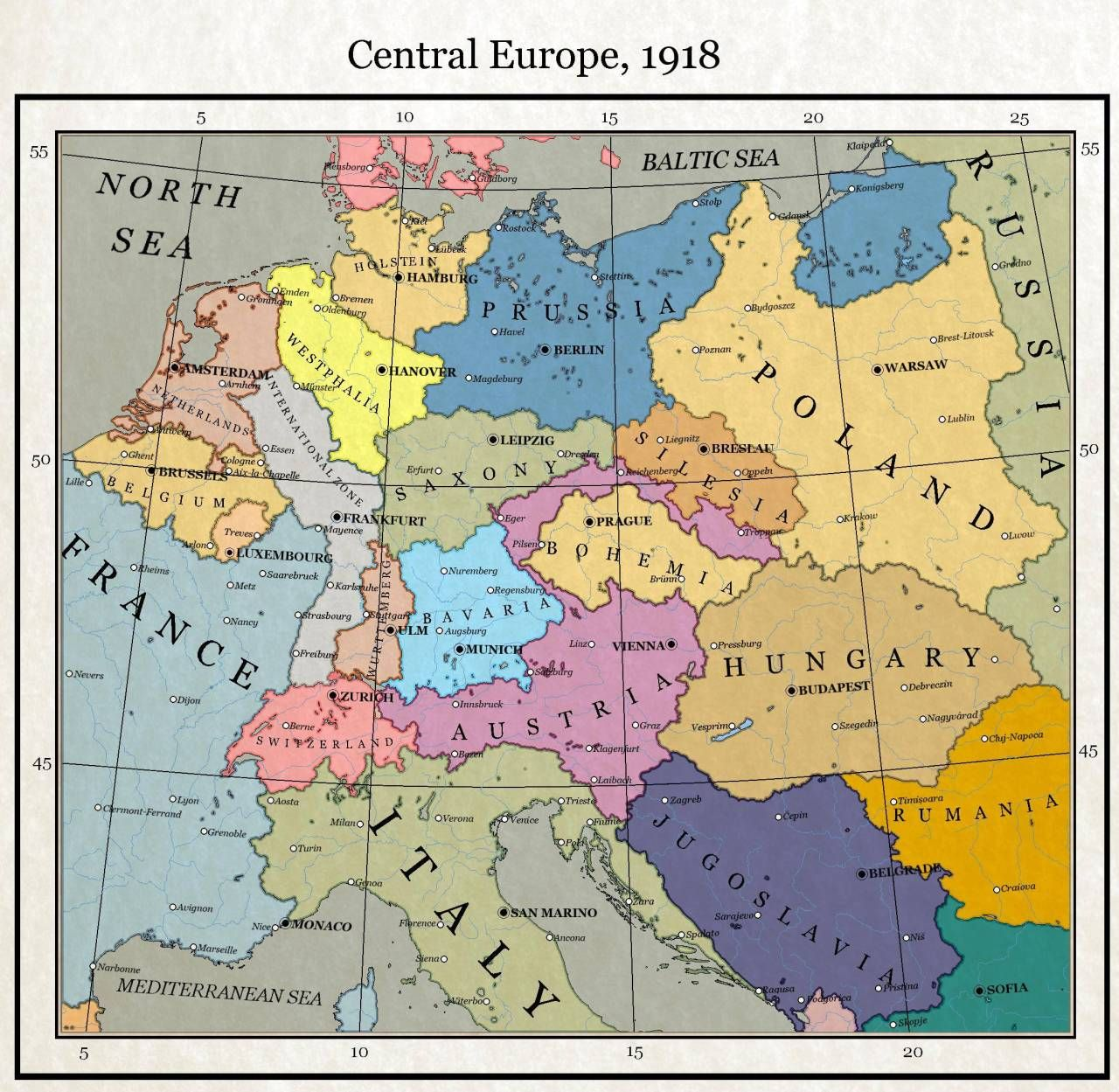 Edgertt Technology — Central Europe in 1918. | Alternative ...