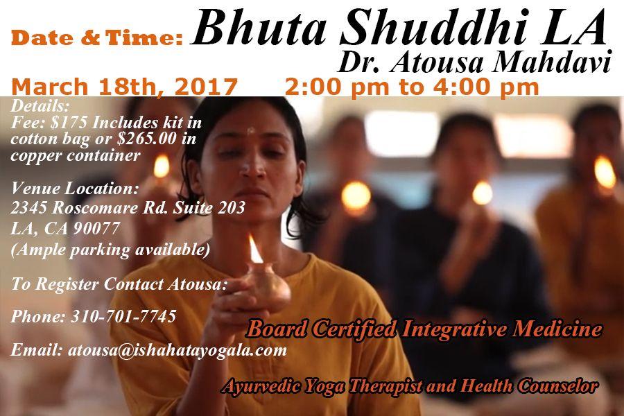 Bhuta Shuddhi in LA Yoga program, Integrative medicine
