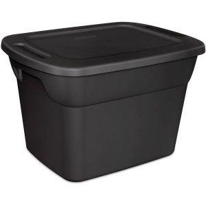 Black Plastic Storage Bins Sterilite Recycle Box Plastic