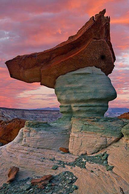 Hoodoo, Glen Canyon National Recreation Area, Page, Arizona, USA