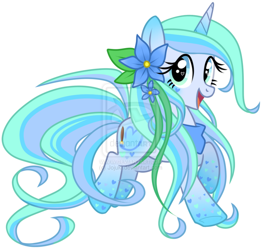 Rainbow Powered Ocean Blossom by Jojuki-chan on deviantART. Adopted by me and Cray Cray MLP.